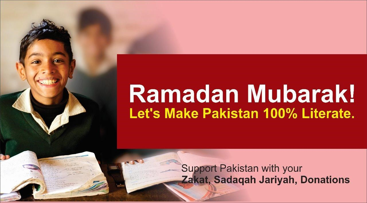 let make pakistan 100% literate