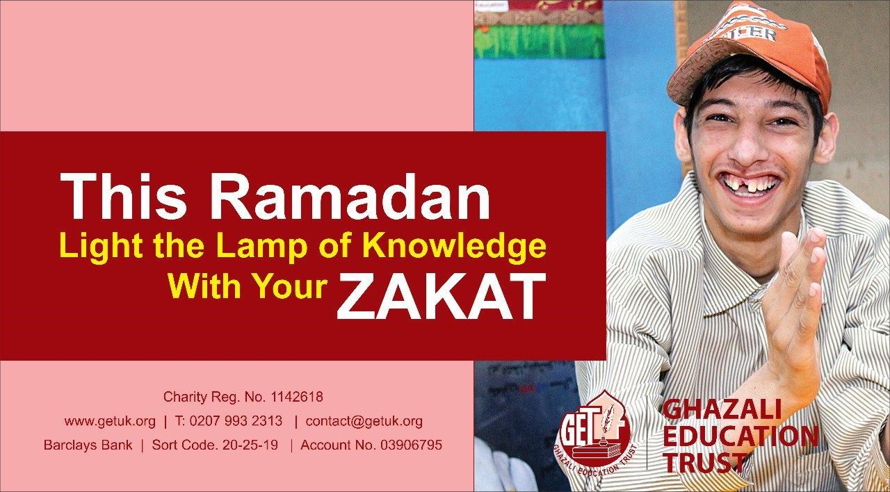 Light the lamp of knowledge with your zakat
